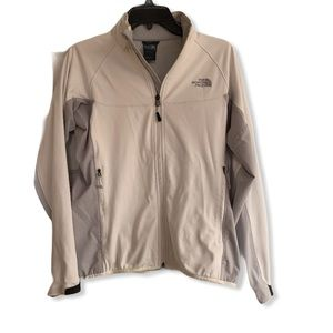 "The North Face White ""Windstopper"" jacket medium"
